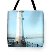 Newhaven Harbour Lighthouse Edinburgh Tote Bag