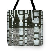 Night Birches Tote Bag