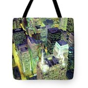 Night, Chicago, Illinois, Usa Tote Bag