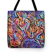 Night City Jazz Tote Bag