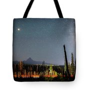 Night On Santiam Pass Tote Bag