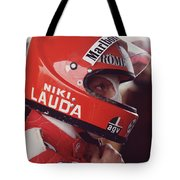 Niki Lauda. 1976 United States Grand Prix Tote Bag