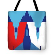 No1028 My Iron Eagle Minimal Movie Poster Tote Bag
