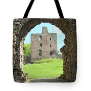 Norham Castle And Entrance Gate Tote Bag