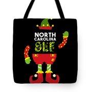 North Carolina Elf Xmas Elf Santa Helper Christmas Tote Bag
