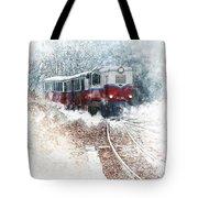Northern European Train Tote Bag
