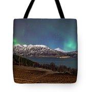 Northern Lights Over Grytoya Tote Bag