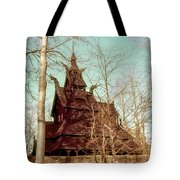Norwegian Stave Church Tote Bag
