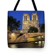 Notre Dame Cathedral Evening Tote Bag by Jemmy Archer