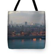 Novi Sad Night Cityscape Tote Bag