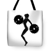 Nude Woman With Saw Blade 4 Tote Bag