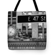 Nyc In Black And White Xii Tote Bag