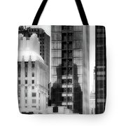 Nyc In Black And White Xv Tote Bag