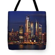 Nyc Sundown Gold And Twilight Skies Tote Bag