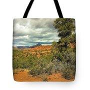 Oak Creek Baldwin Trail Blue Sky Clouds Red Rocks Scrub Vegetation Tree 0249 Tote Bag