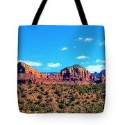 Oak Creek Jack's Canyon Blue Sky Clouds Red Rock 0228 3 Tote Bag