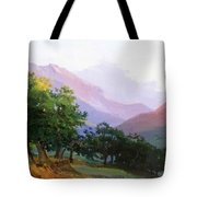 Oaks In The Mountains Of Carrara Tote Bag