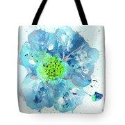 Oceanbreeze Blue-green Windflower Tote Bag