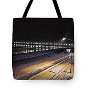 Oceanside Pier At Night  Tote Bag
