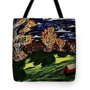October Moon Shadow Tote Bag