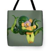 Octopus Green And Bear Tote Bag