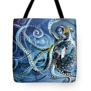 Octopus Of Nine Brains Tote Bag