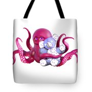 Octopus Pink With Bear Tote Bag