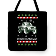Offroad Monster Truck Christmas Xmas Winter Holidays Tote Bag