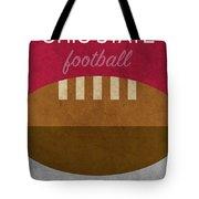 Ohio State Football Minimalist Retro Sports Poster Series 003 Tote Bag