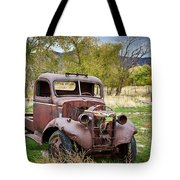 Old Abandoned Chevy Truck Tote Bag