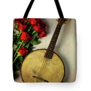 Old Banjo And Roses Tote Bag