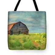 Old Barn Amongst The Weeds Tote Bag by Jeffrey Kolker