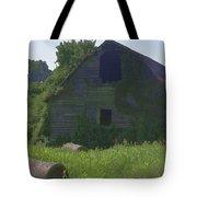 Old Barn And Hay Bales 2 Tote Bag