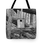 Old Birdhouse Tote Bag