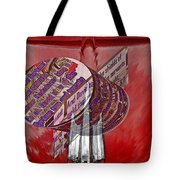 Old Car Hood With 3d Text Boxes Tote Bag