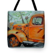 Old Dodge Truck At Patterson Farms Tote Bag