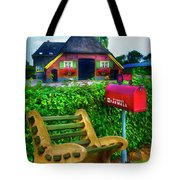 Old Dutch Cottage Painting Tote Bag