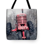 Old Farmall Farm Tractor Color Separation Nh Tote Bag
