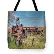 Old Hay Baler Tote Bag