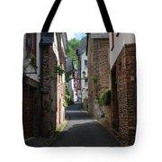 old historic street in Ediger Germany Tote Bag
