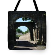 old historic town gate in Hexham Tote Bag
