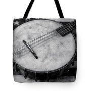 Old Mandolin Banjo In Black And White Tote Bag