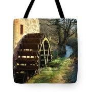 old mill wheel and stream at Preston Mill, East Linton Tote Bag