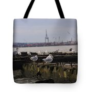 Old New Jersey Pier Statue State Park II Tote Bag