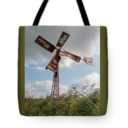 Old Rusty Windmill. Tote Bag by Anjo Ten Kate