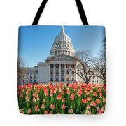 On A Bed Of Tulips Tote Bag