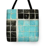 On A Theme Of Turquoise And Black Tote Bag