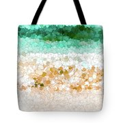 On The Beach Abstract Painting Tote Bag