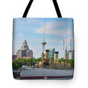 On The Waterfront - The Monitor - Philadelphia Tote Bag