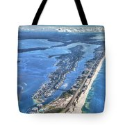 Ono Island-5112-tm Tote Bag by Gulf Coast Aerials -